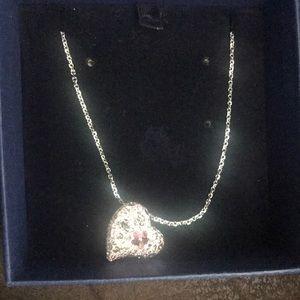 Swarovski heart pendant necklace